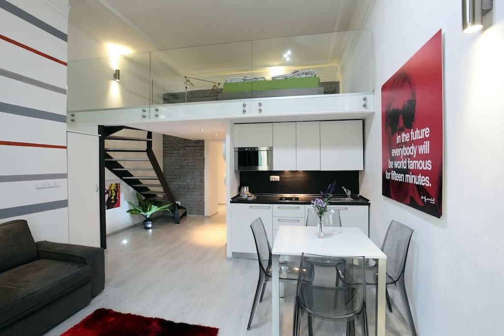 Gray Chic Flat Center Prague Appartements Louer