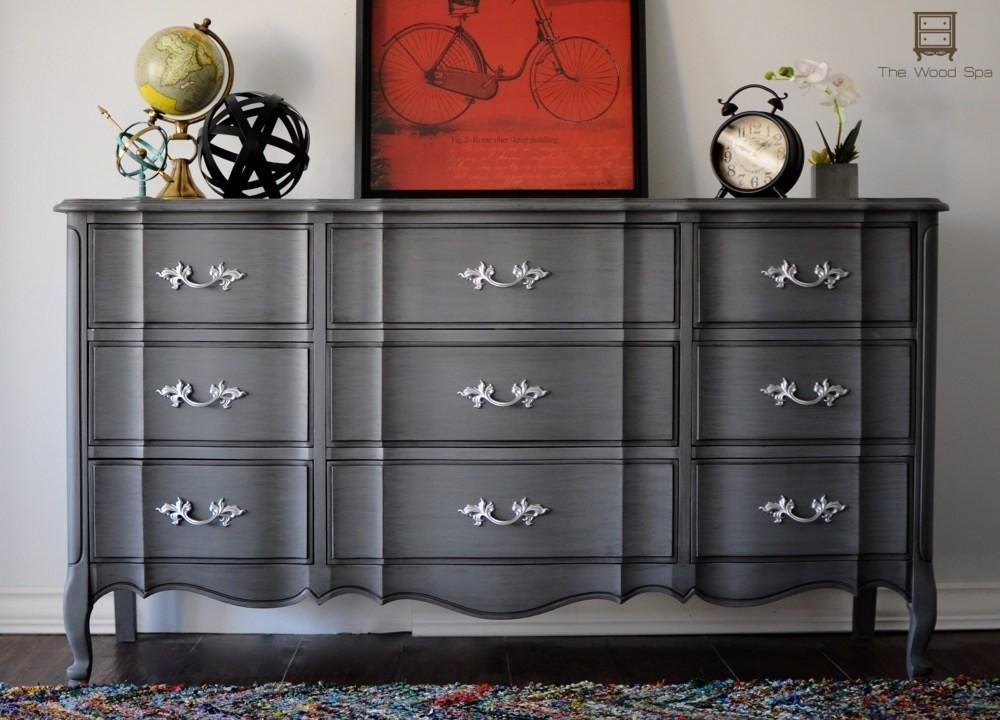 Gray Glazed Dresser Makeover Diy Furniture Makeovers