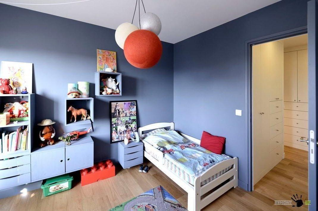 Gray Kids Room Color Decoration Mounting Cabinet