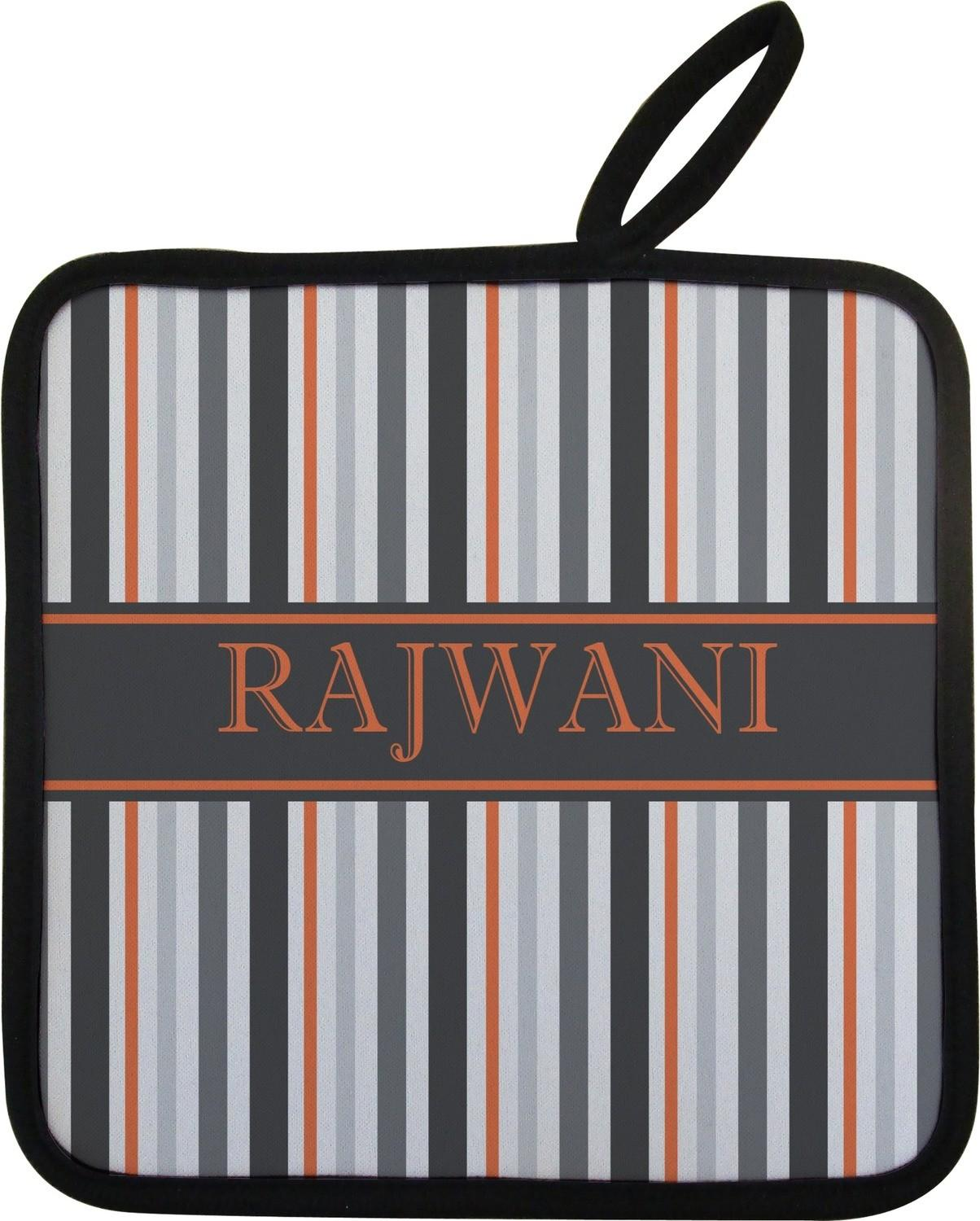 Gray Stripes Pot Holder Personalized Youcustomizeit