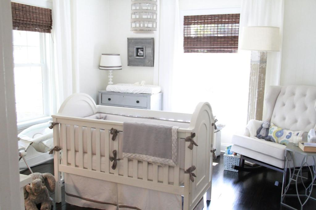 Gray White Gender Neutral Nursery Tour Project