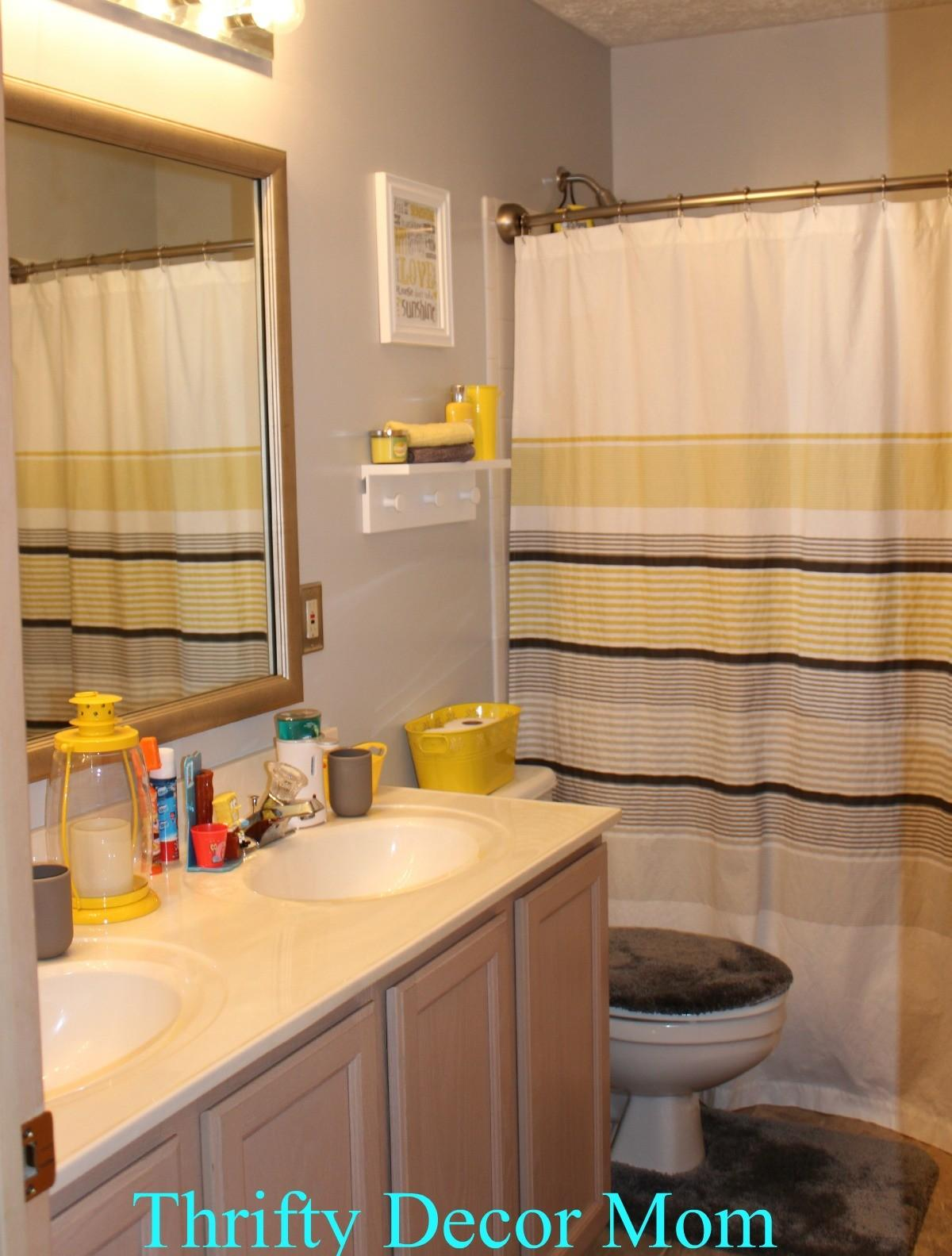 Gray Yellow Bathroom Decor Brightpulse