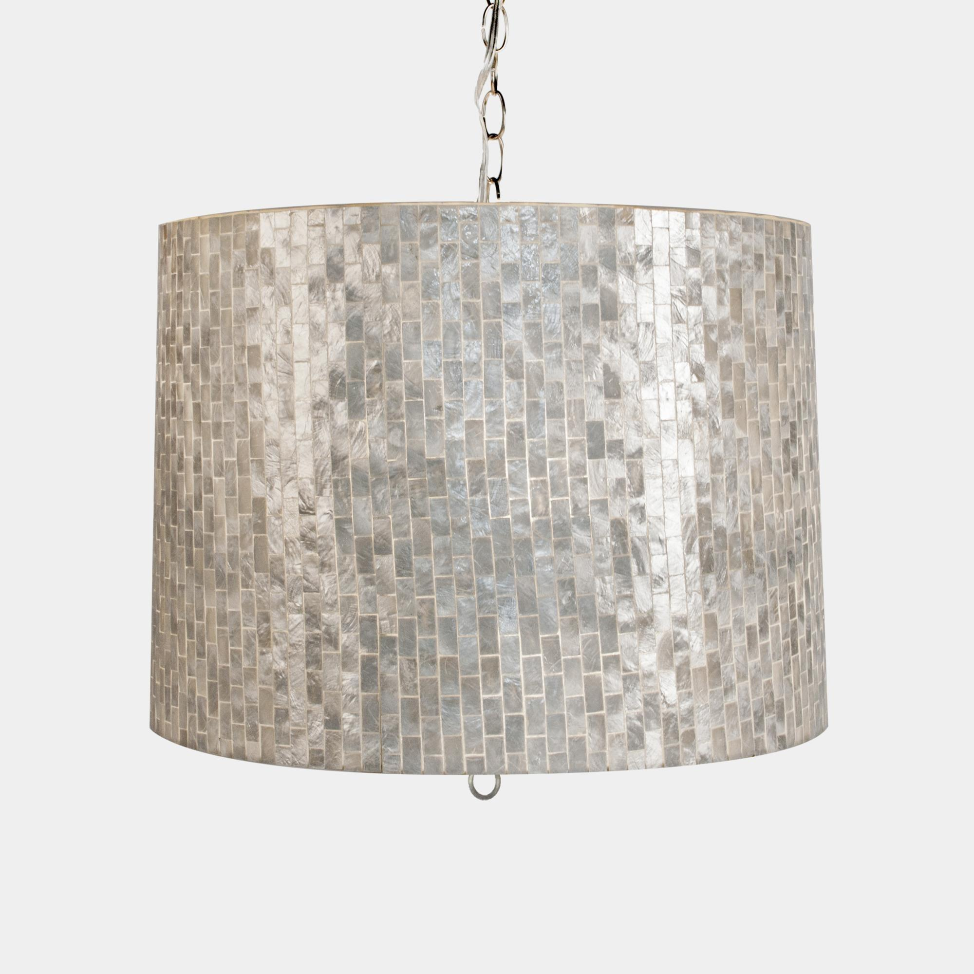 Great Capiz Pendant Light Room Design