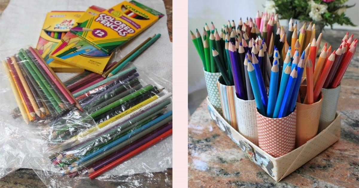 Great Challenge Diy Colored Pencil Organizer