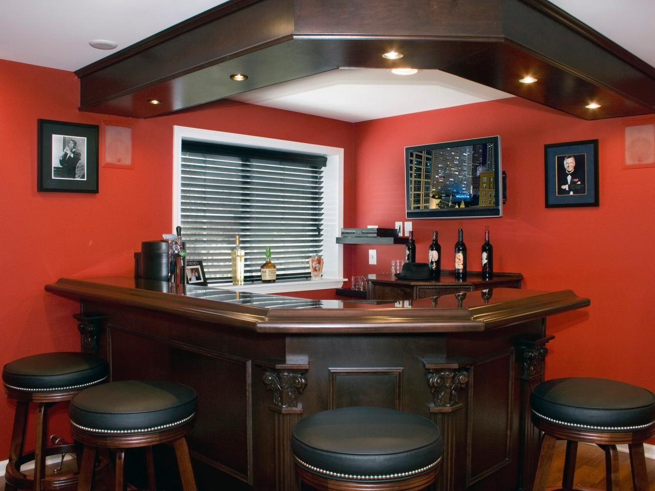 Great Design Ideas Basement Bars Decorating