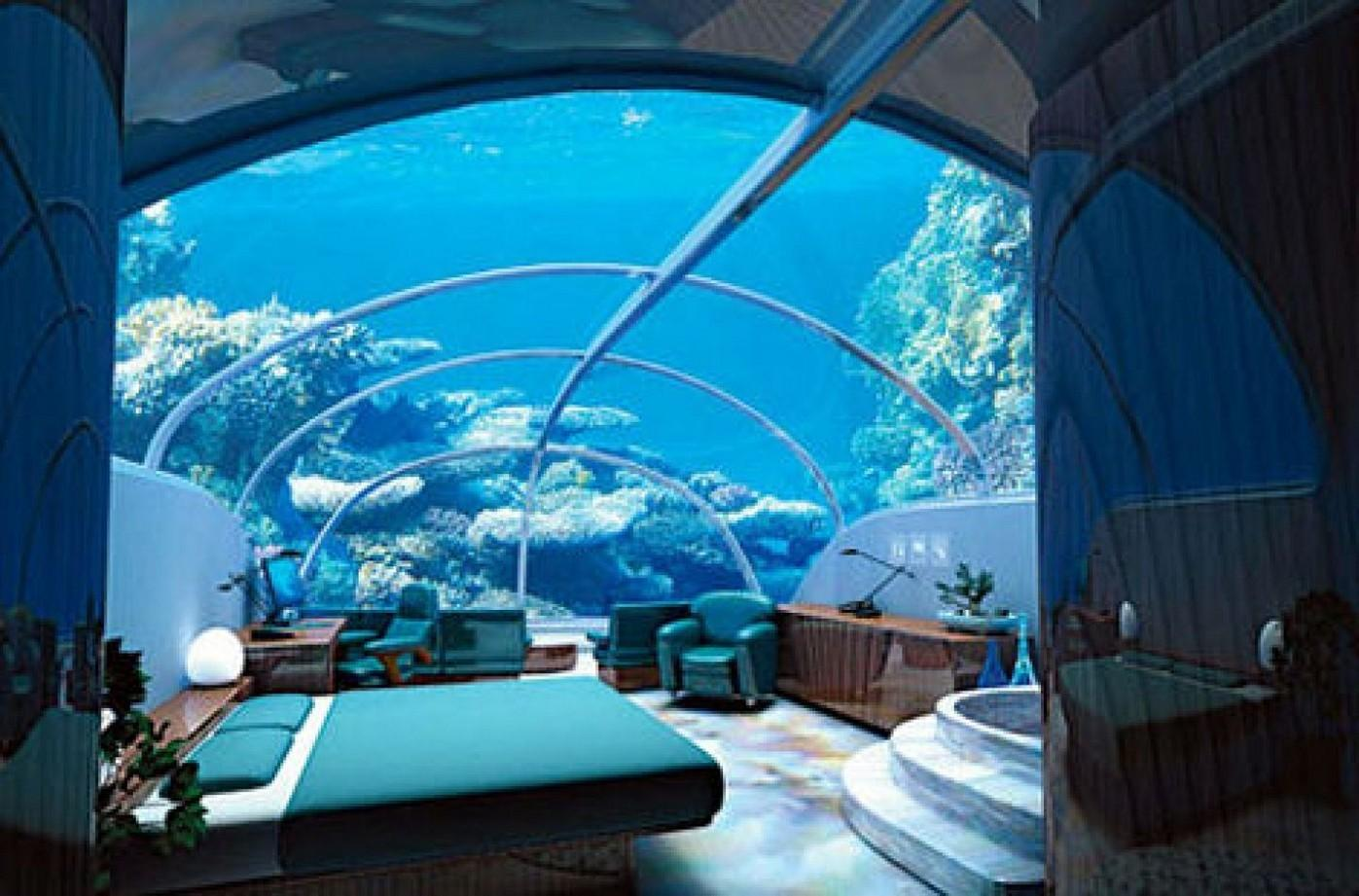 Great Ideas Fish Tank Over Bed Contemporary