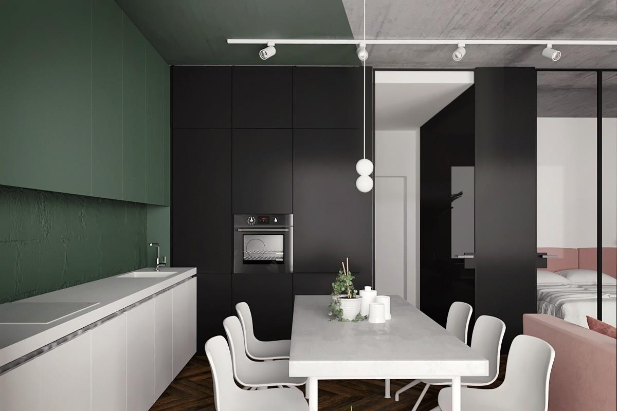 Great Inspiration Small Modern Studio Apartment Using