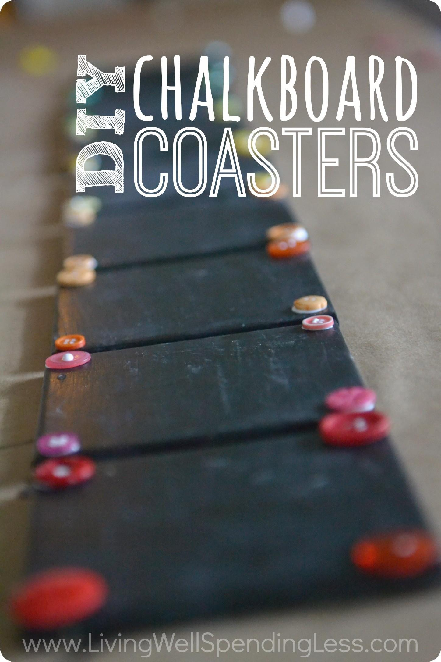 Great Tutorial Making Handmade Chalkboard Coasters Out