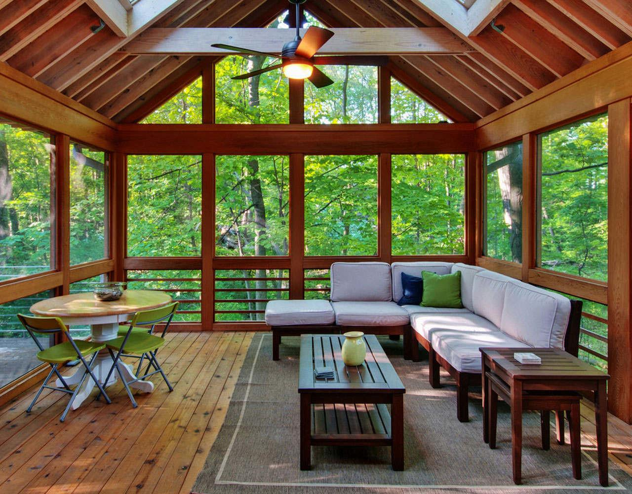 Great Wooden Material Sun Room Desaign Natural