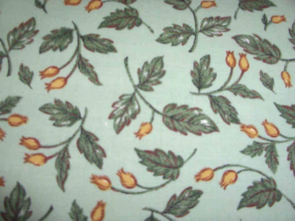 Green Autumn Fall Leaves Cotton Quilt Fabric Bty