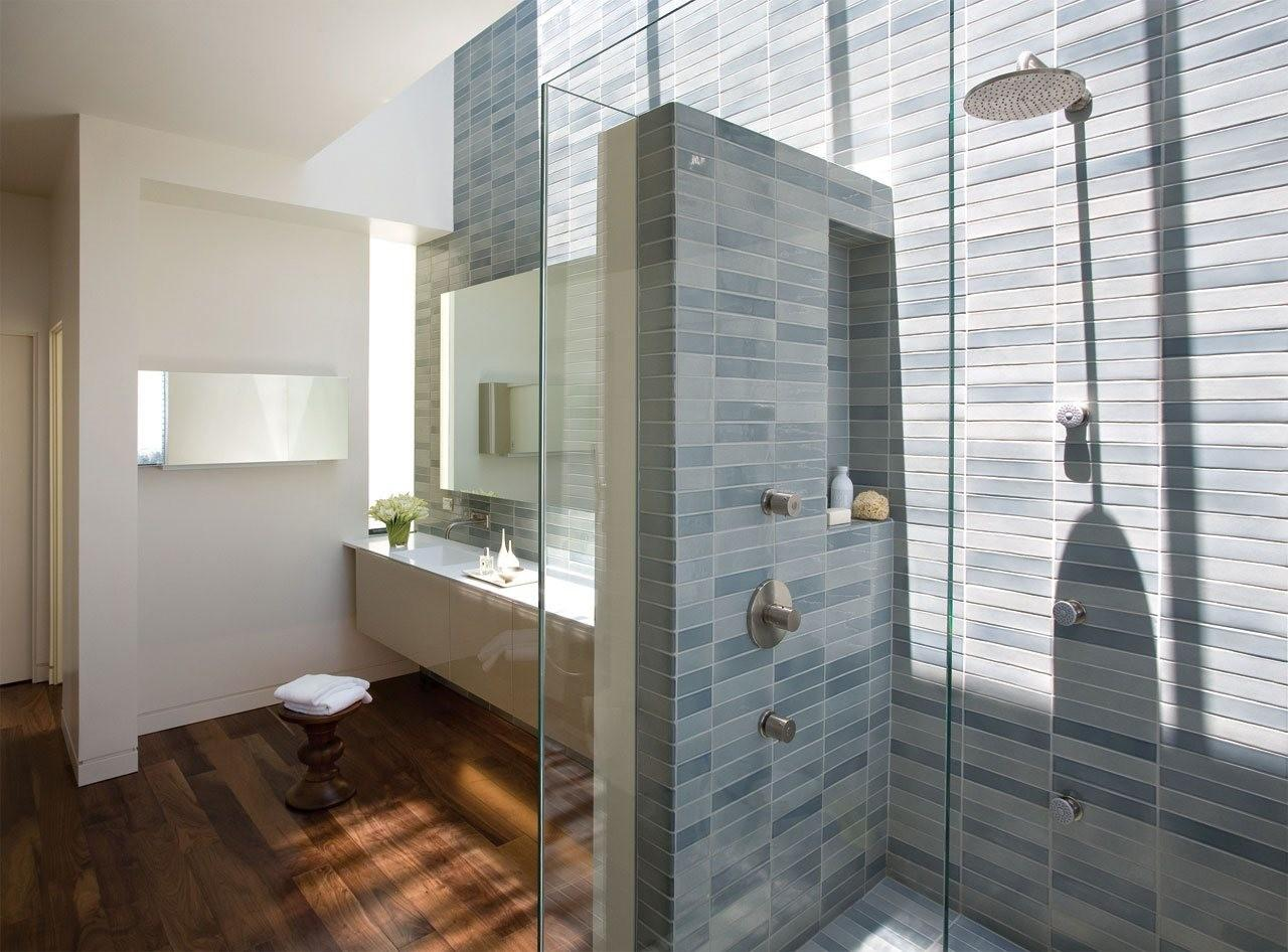 Green Bathroom Decor Stall Shower Glass Doors