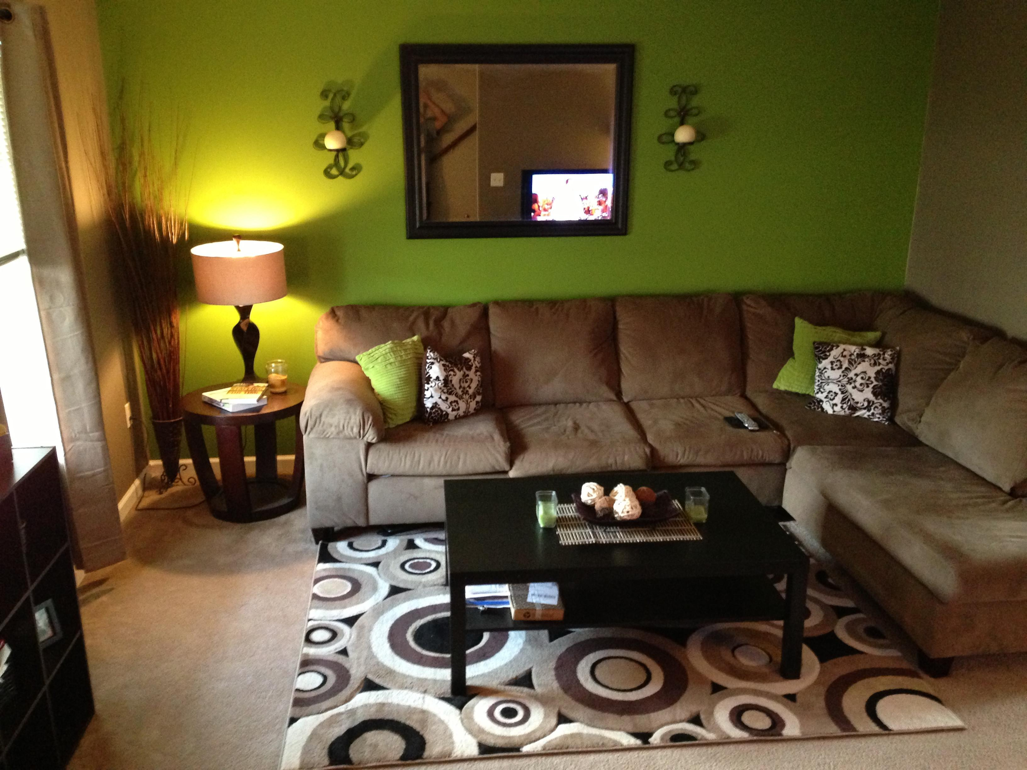 Green Brown Living Room Decorating Ideas Dorancoins