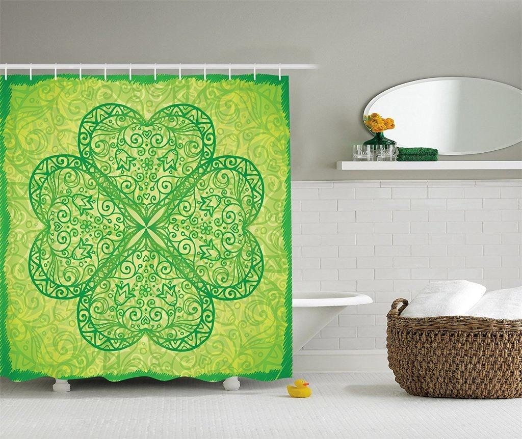 Green Irish Shamrock Patrick Day Bathroom Decor