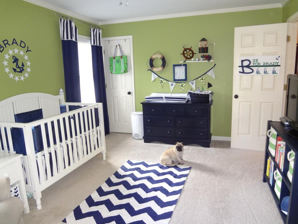 Green Navy Nautical Nursery Project