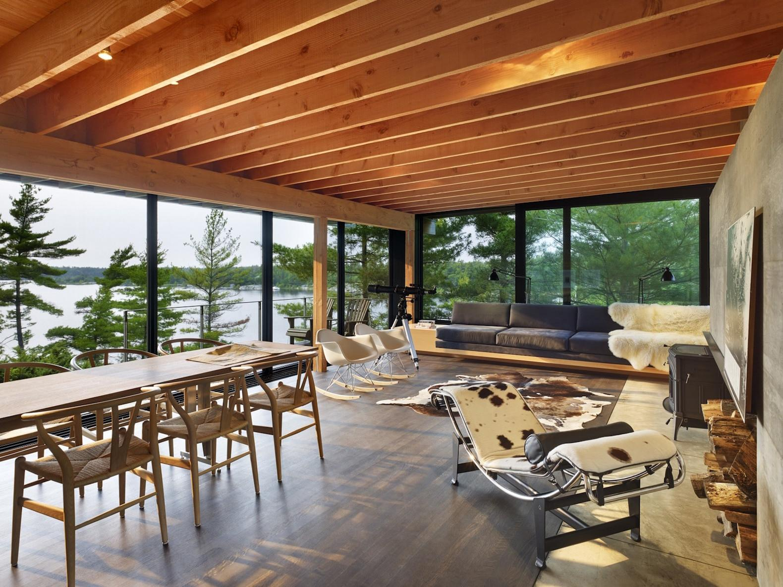 Green Roofed Cabin Stunning Cantilevered Retreat