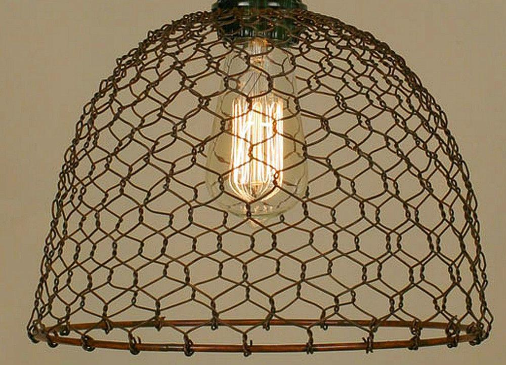 Green Rust Finish Vintage Rustic Industrial Chicken Wire