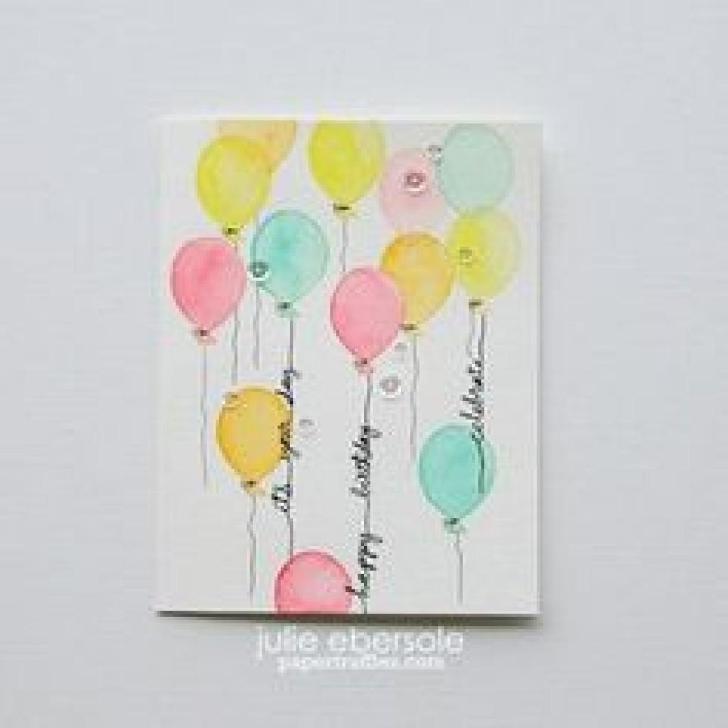 Greeting Card Easy Diy Thank Cards Ombr Watercolor