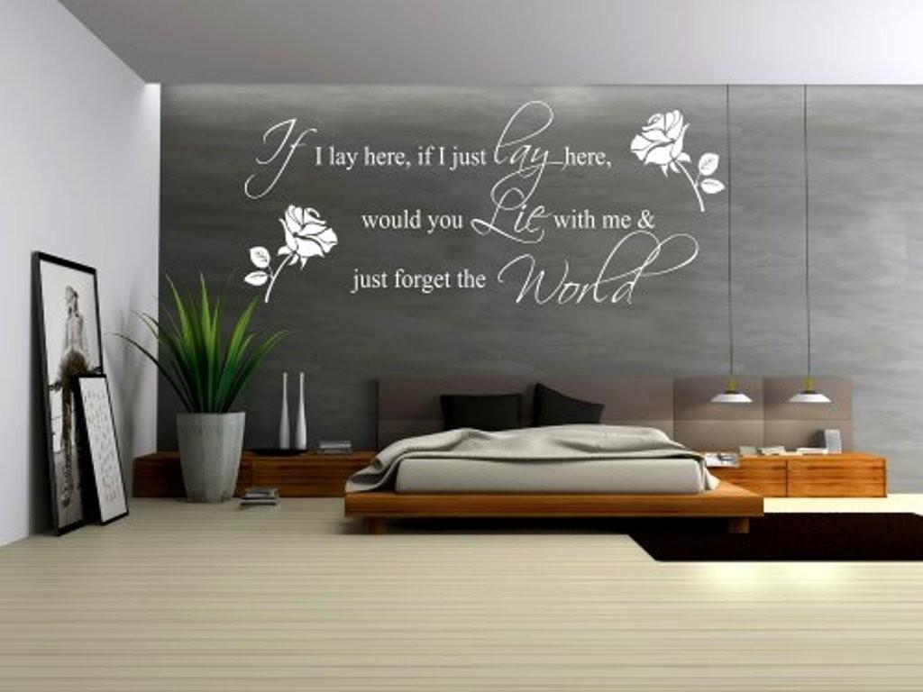 Grey Accent Wall Color Decorative Decals Quotes