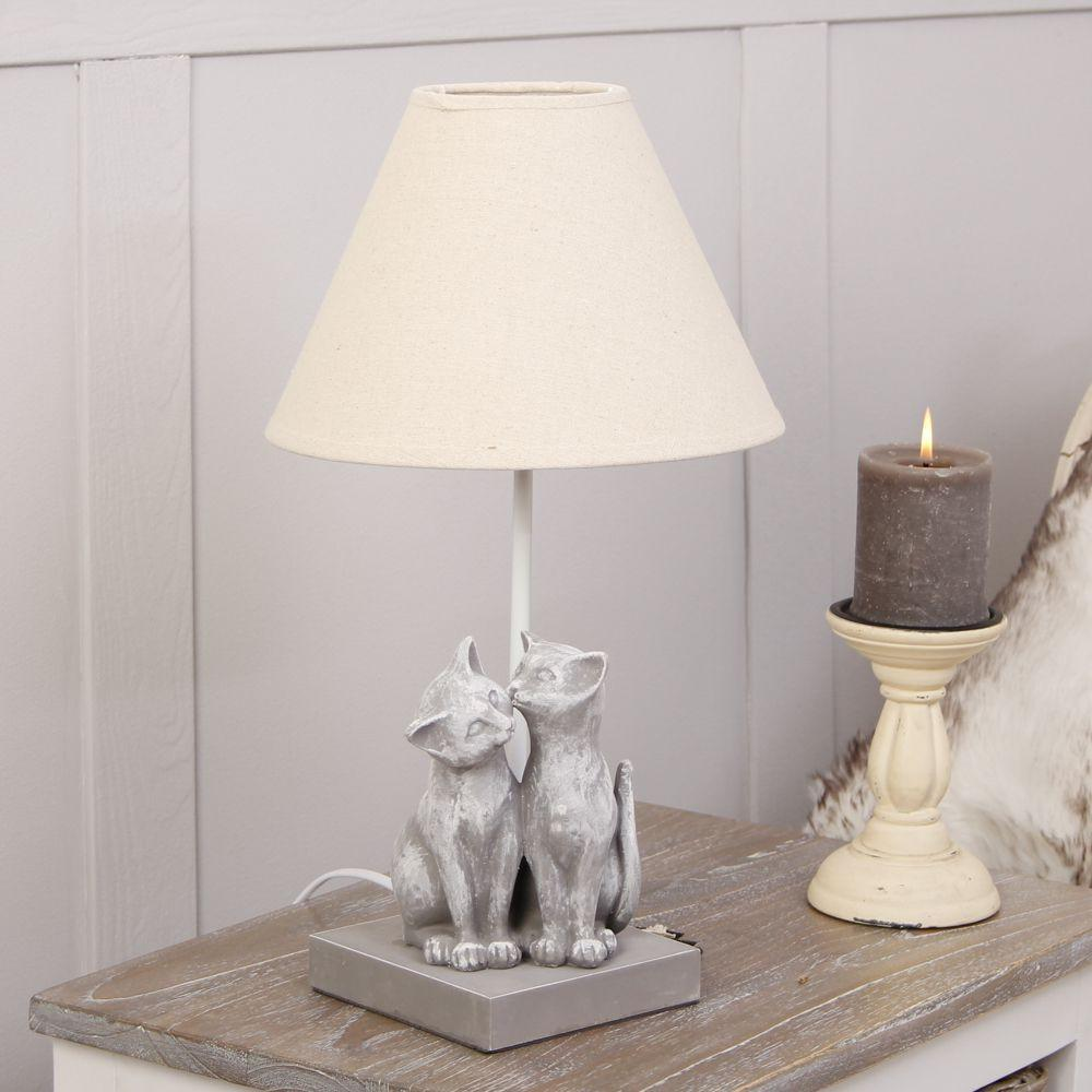 Grey Cats Table Lamp