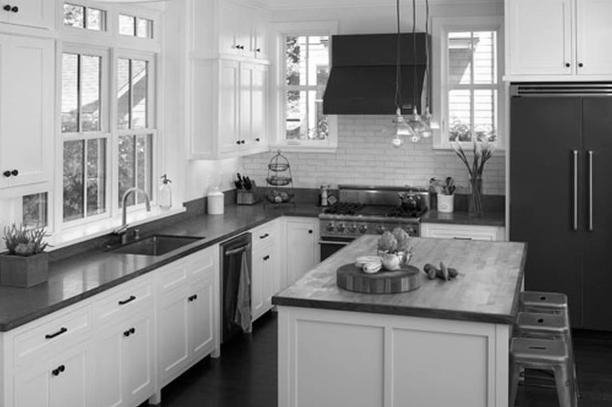 Grey White Black Kitchen Decor