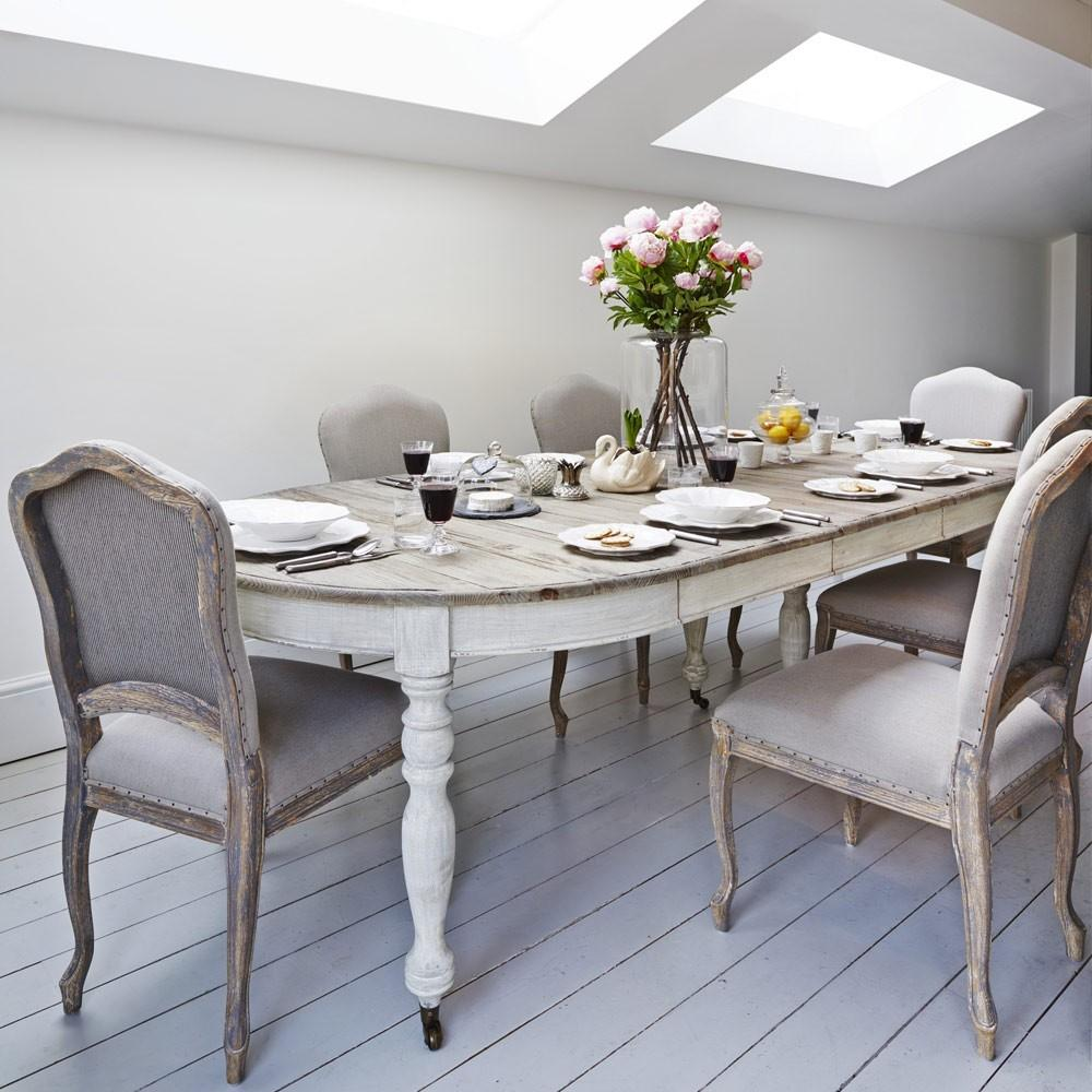 Grey White Washed Kitchen Table Design