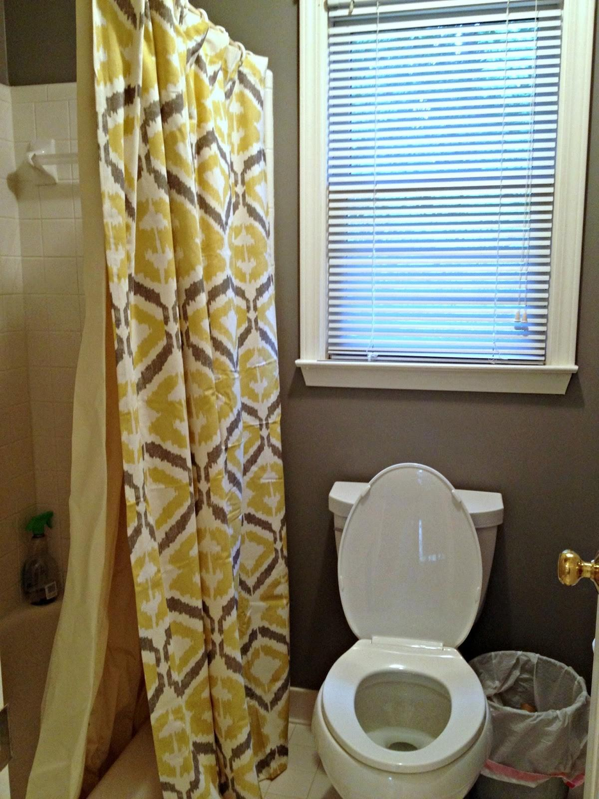 Grey Yellow Bathroom Towels