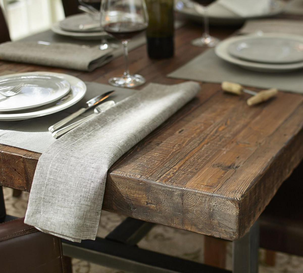 Griffin Fixed Dining Table Pottery Barn