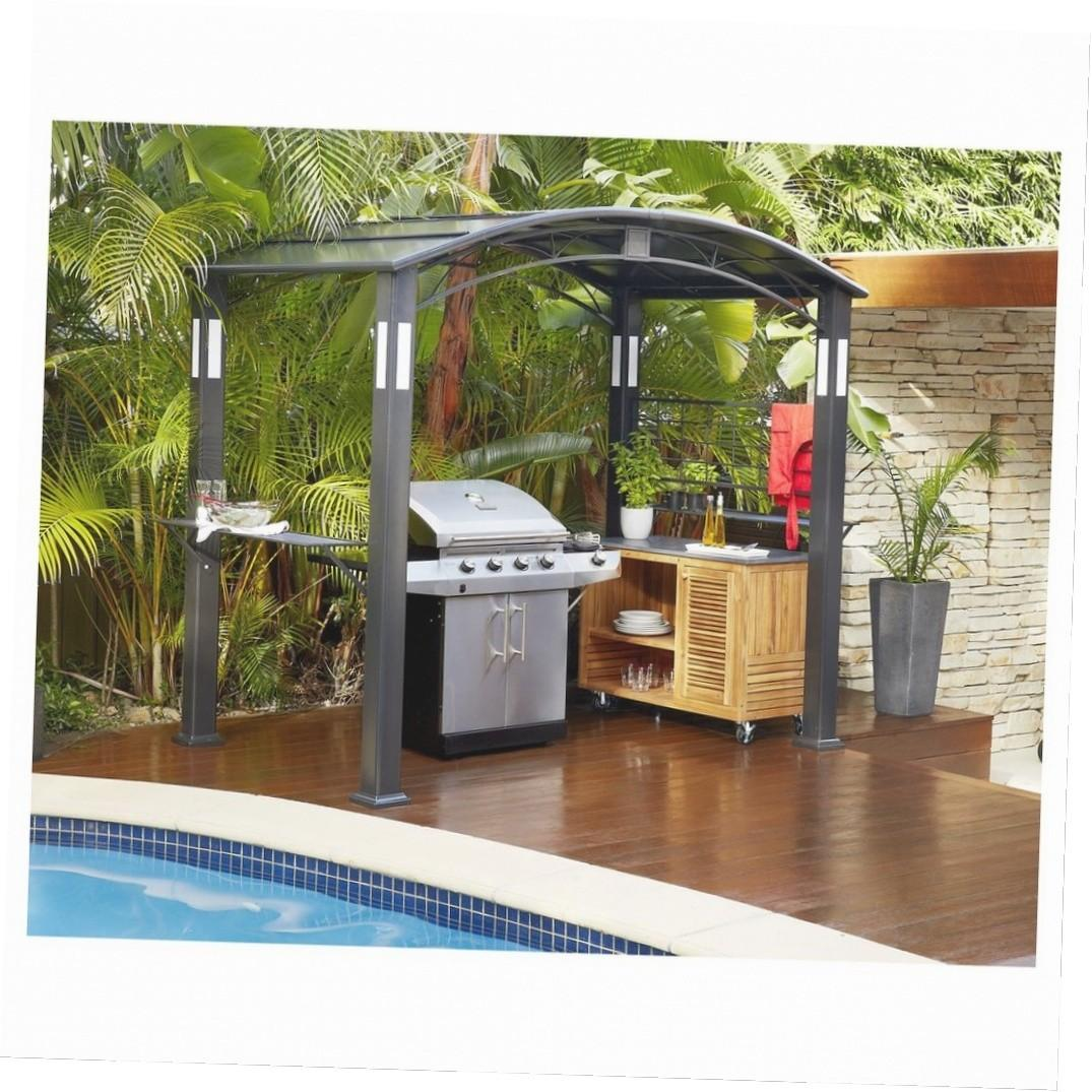 Grill Gazebo Slate Countertop Ideas