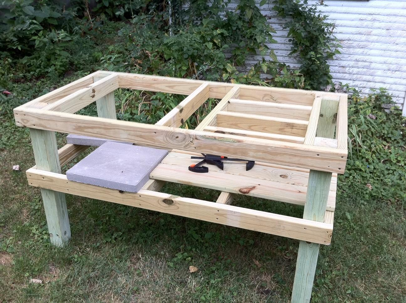Grill Table Plans Diy End