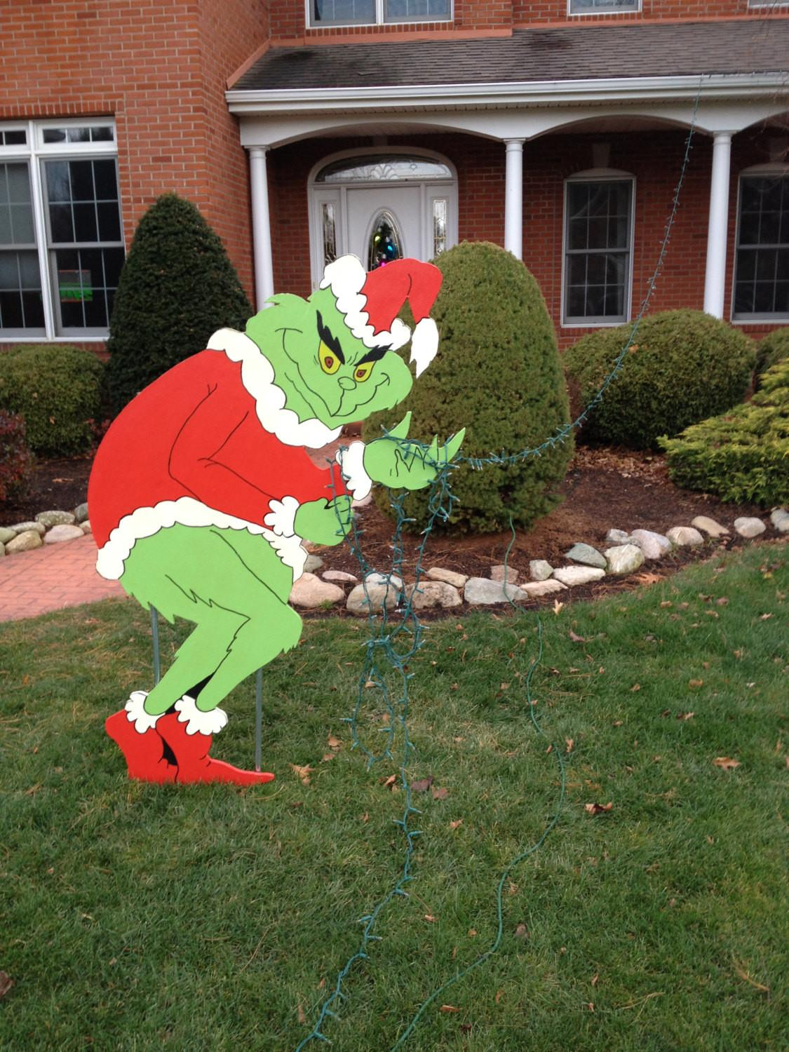 Grinch Stealing Christmas Lights Pattern