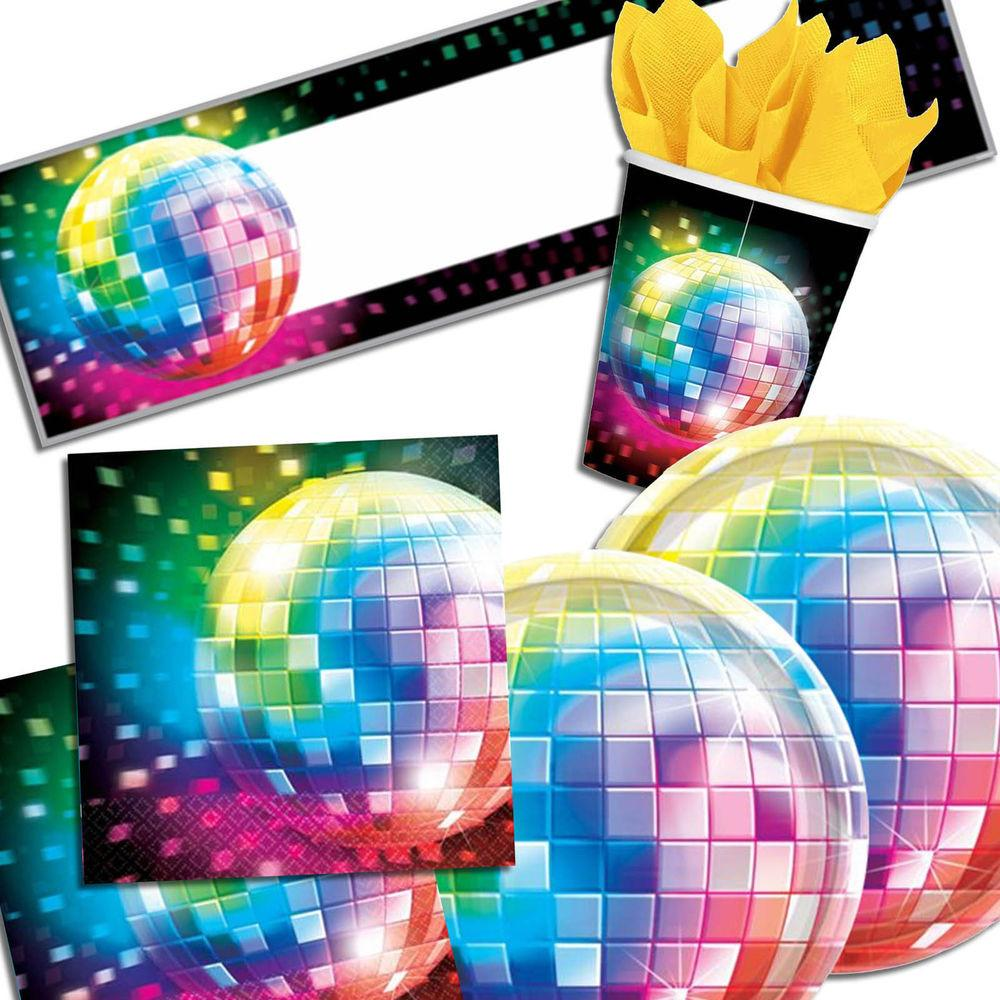 Groovy Mirror Ball Disco Fever Party Tableware