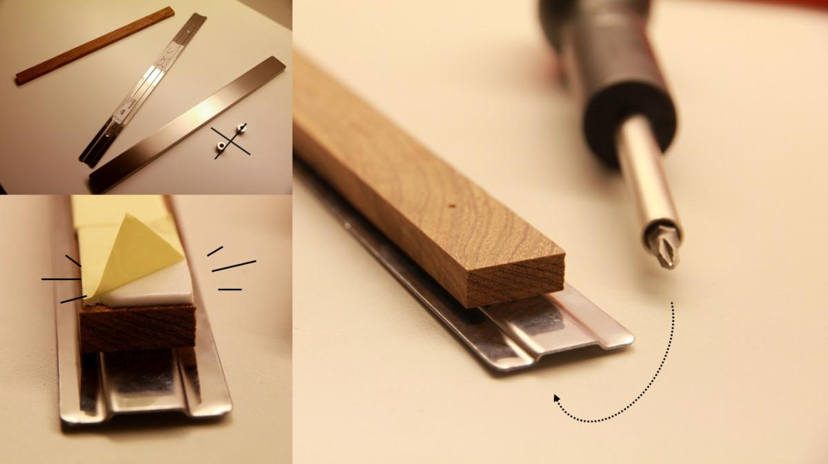 Grundtal Magnetic Knife Rack Without Screws Hackers