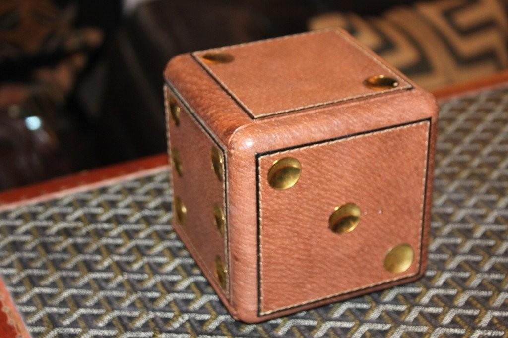Gucci Leather Dice Gaming Cube 1stdibs