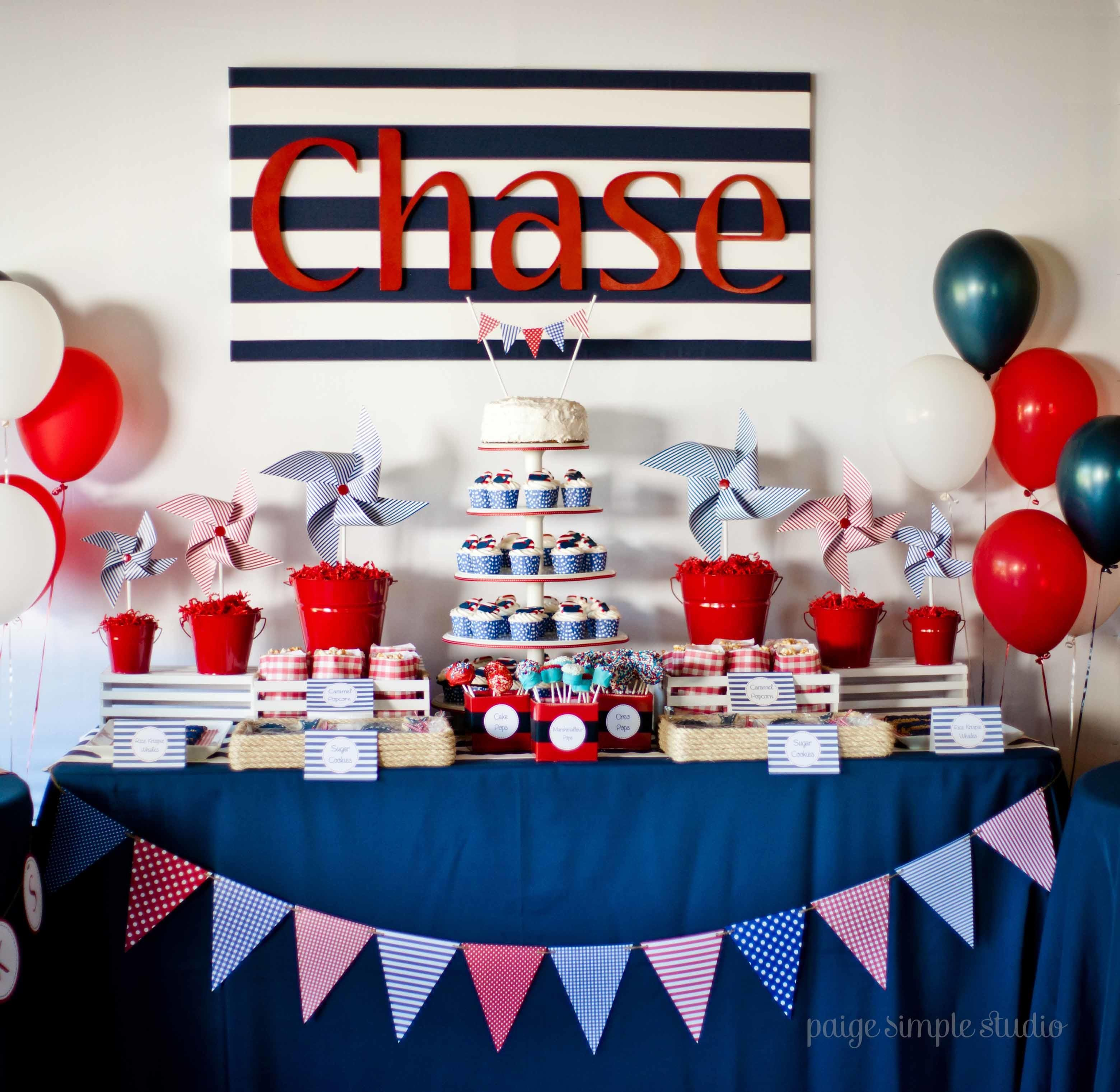 Guest Party Boy Nautical First Birthday