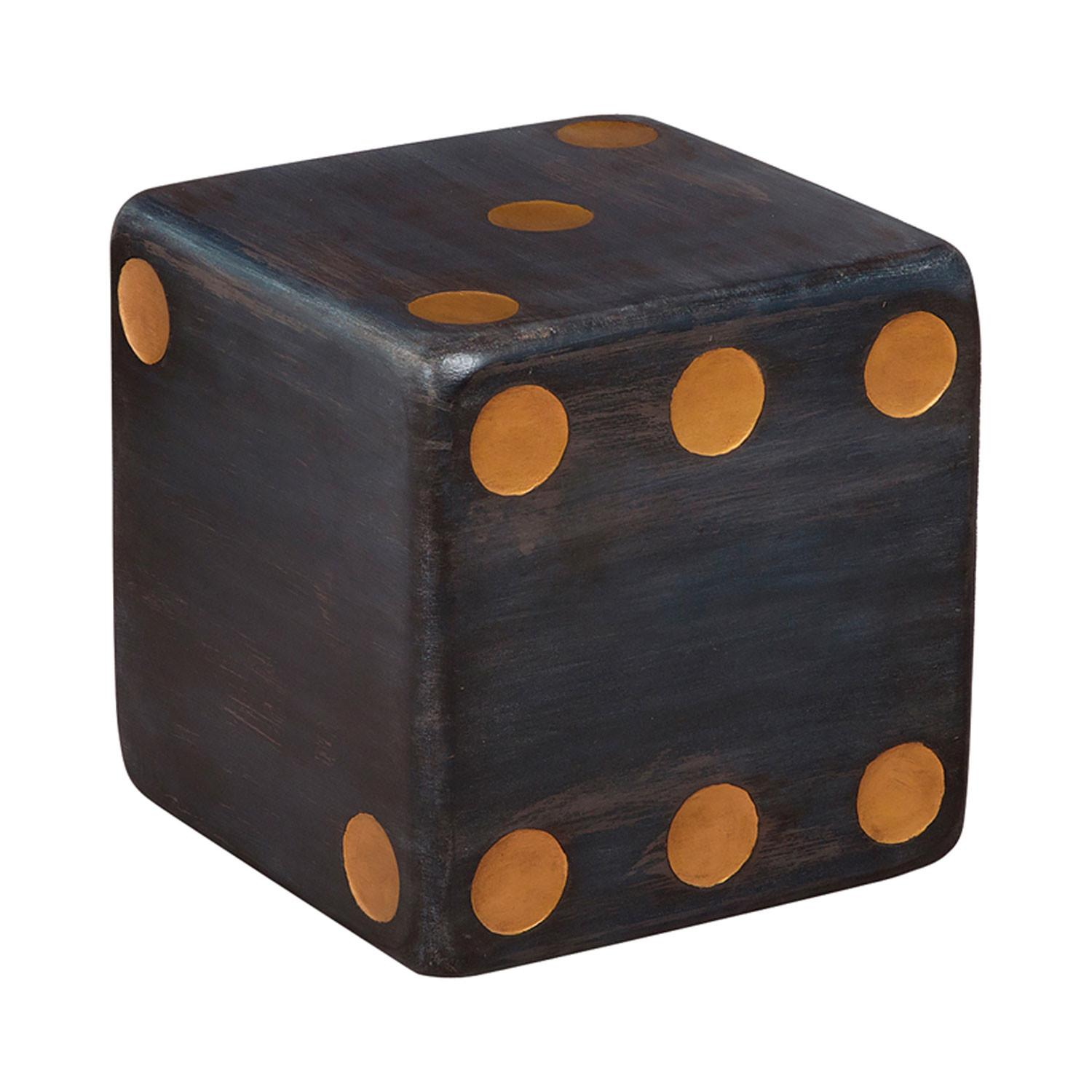 Guildmaster Handpainted Dice Gray Accent Table Sale