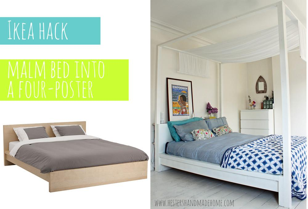 Hack Malm Bed Into Four Poster Hester Handmade