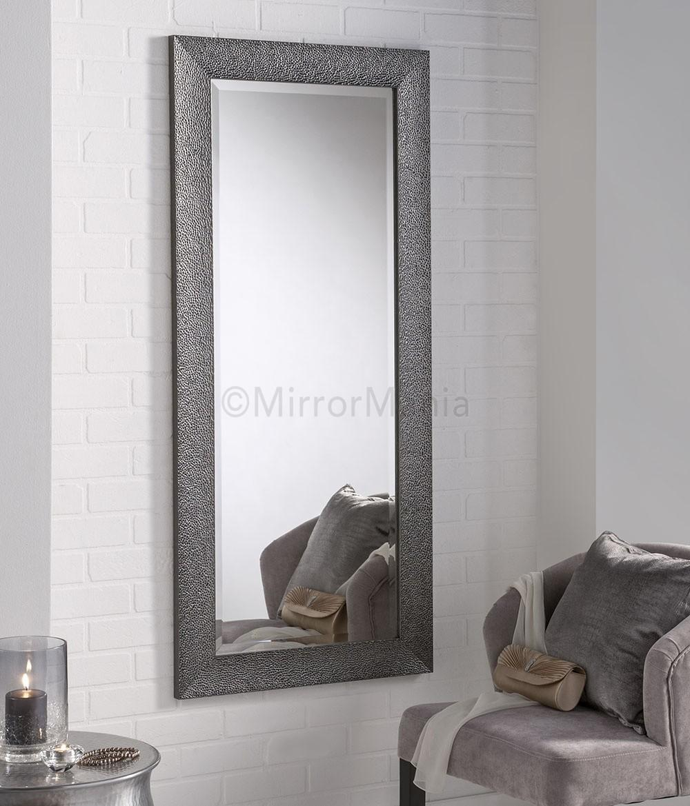 Hades Modern Gun Metal Grey Framed Wall Mirror