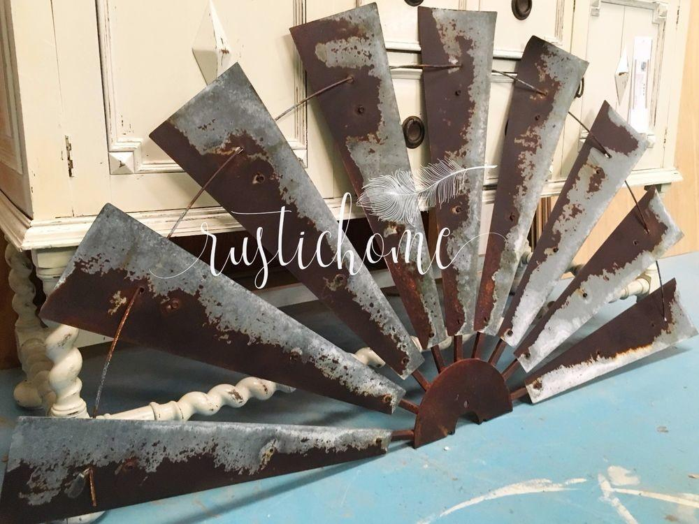 Half Windmill Wall Decor Rustic Art Head
