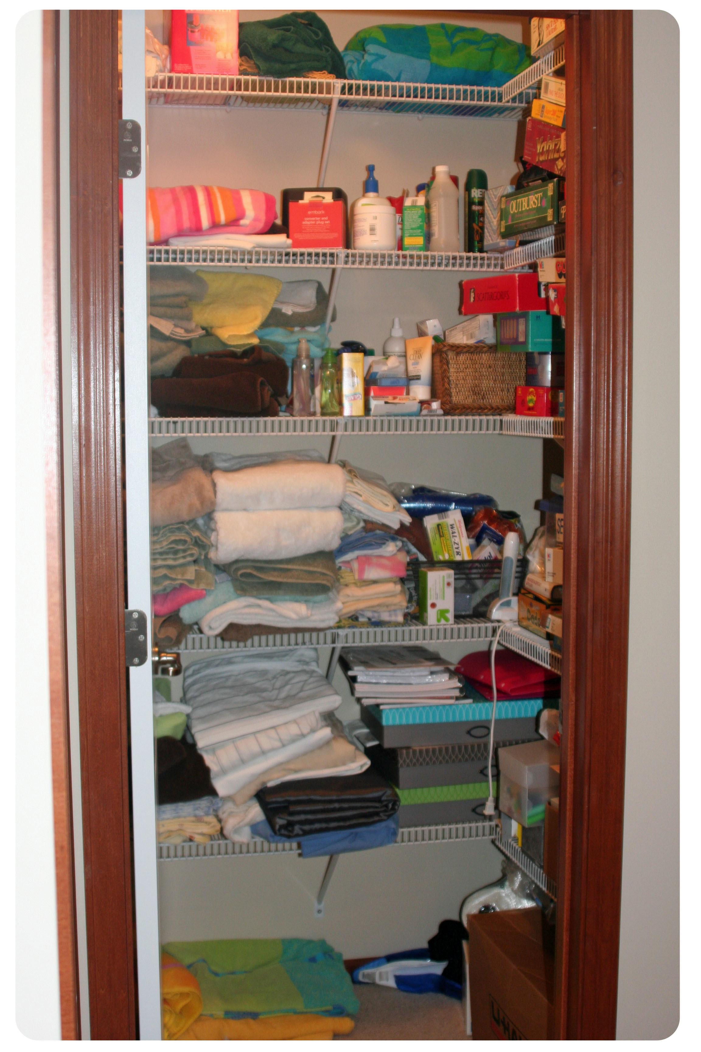 Hall Closet Organized Much More Functional Had