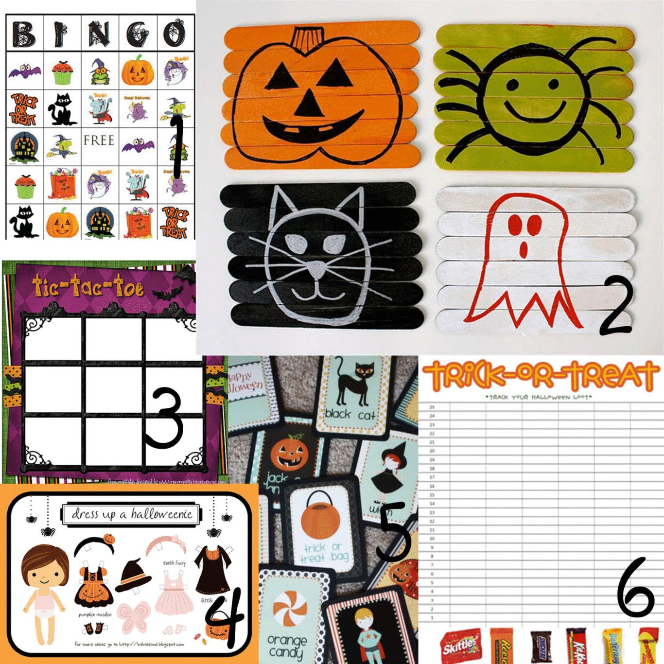 Halloween Activities Printables Games