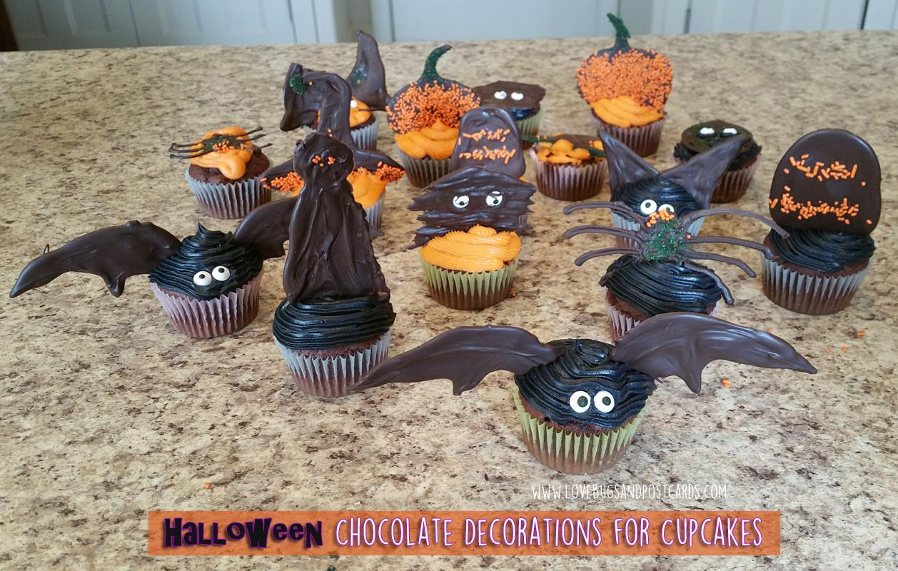 Halloween Chocolate Decorations Cupcakes Lovebugs