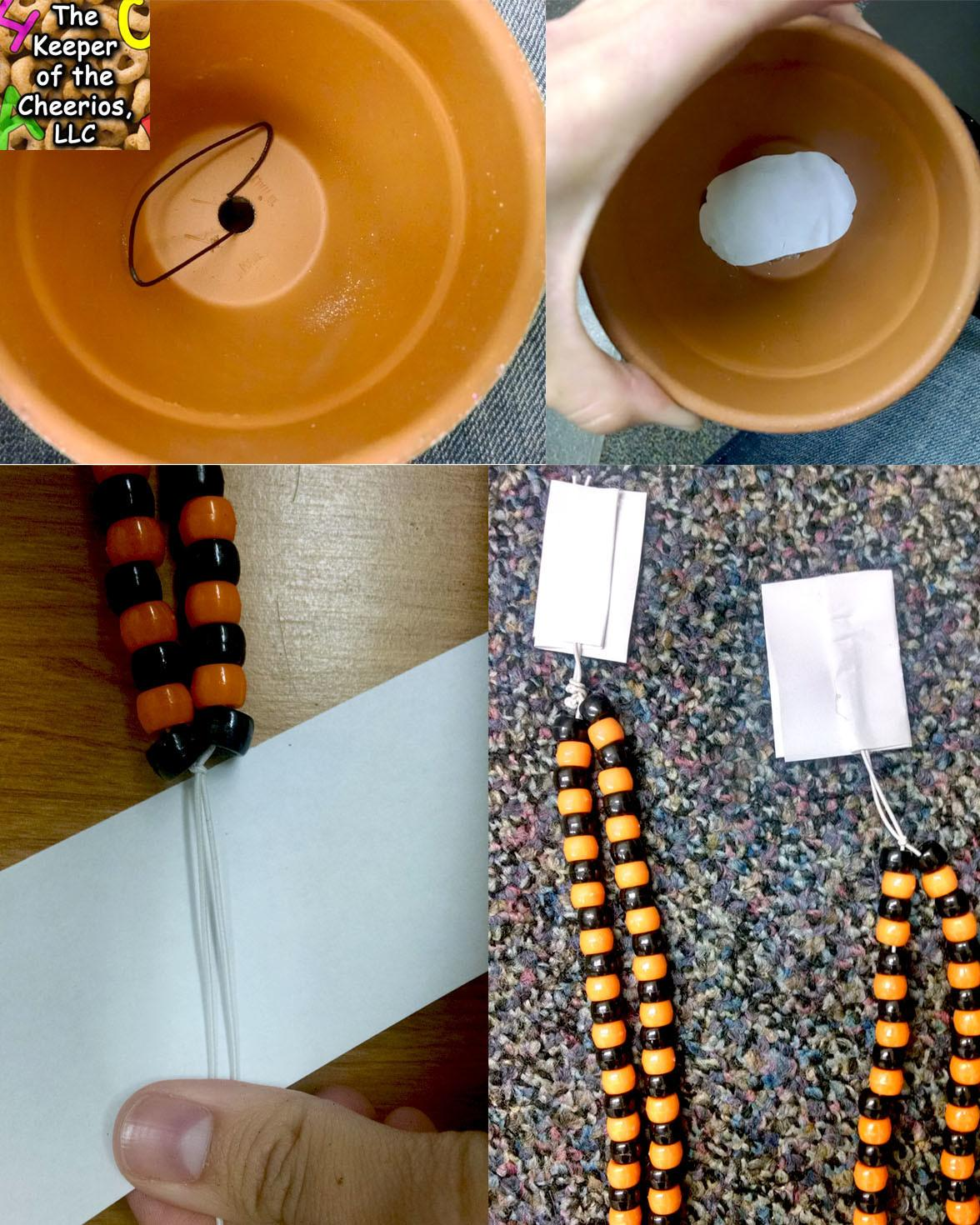 Halloween Clay Pot Wind Chimes