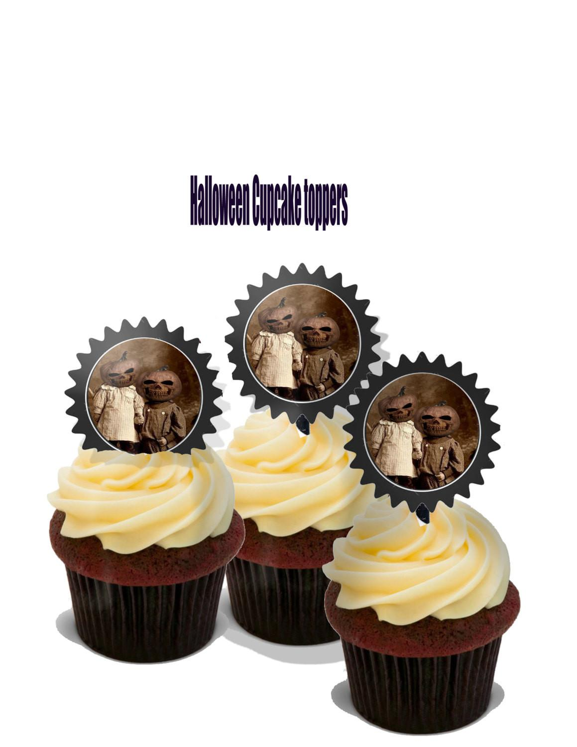 Halloween Cupcake Toppers Diy Printable Gothic Steampunk