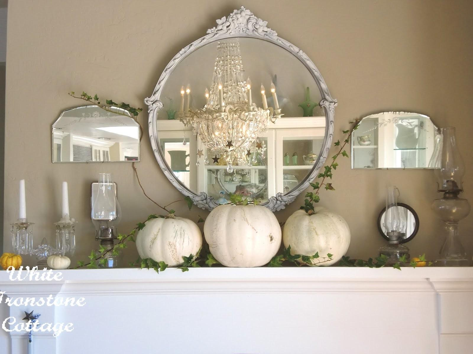 Halloween Decorating Magic White Ironstone Cottage