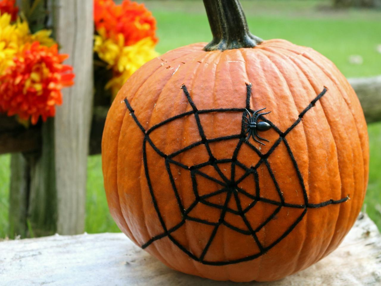 Halloween Decoration Spider Web Pumpkin Tos Diy