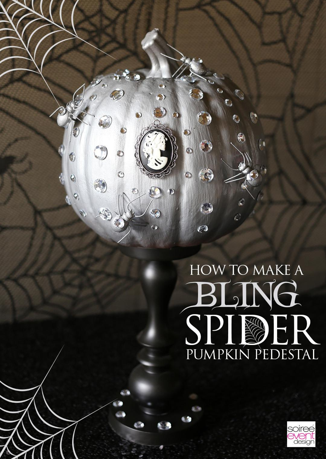 Halloween Dinner Party Table Ways Bling Spider Theme