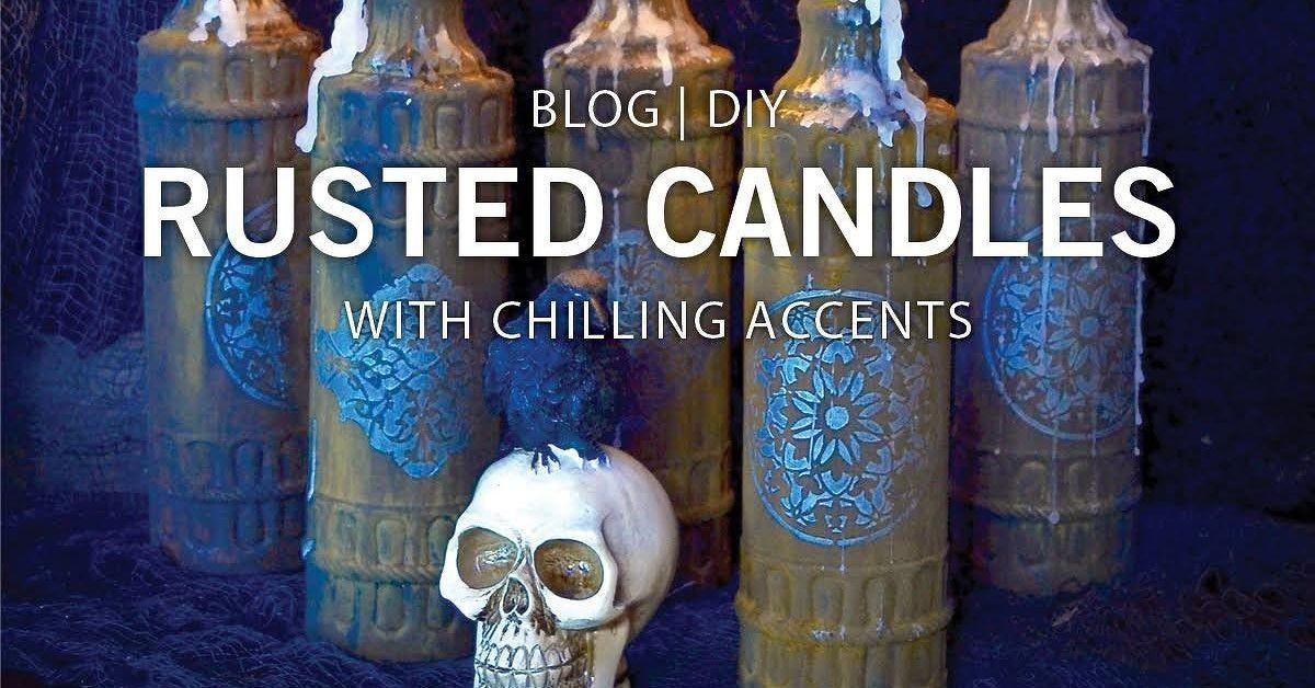 Halloween Diy Rusted Glass Candles Hometalk