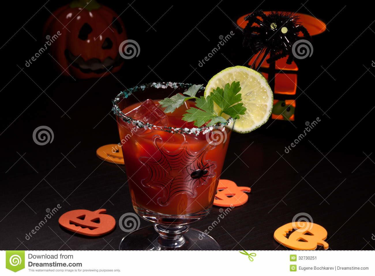 Halloween Drinks Bloody Mary Cocktail Stock