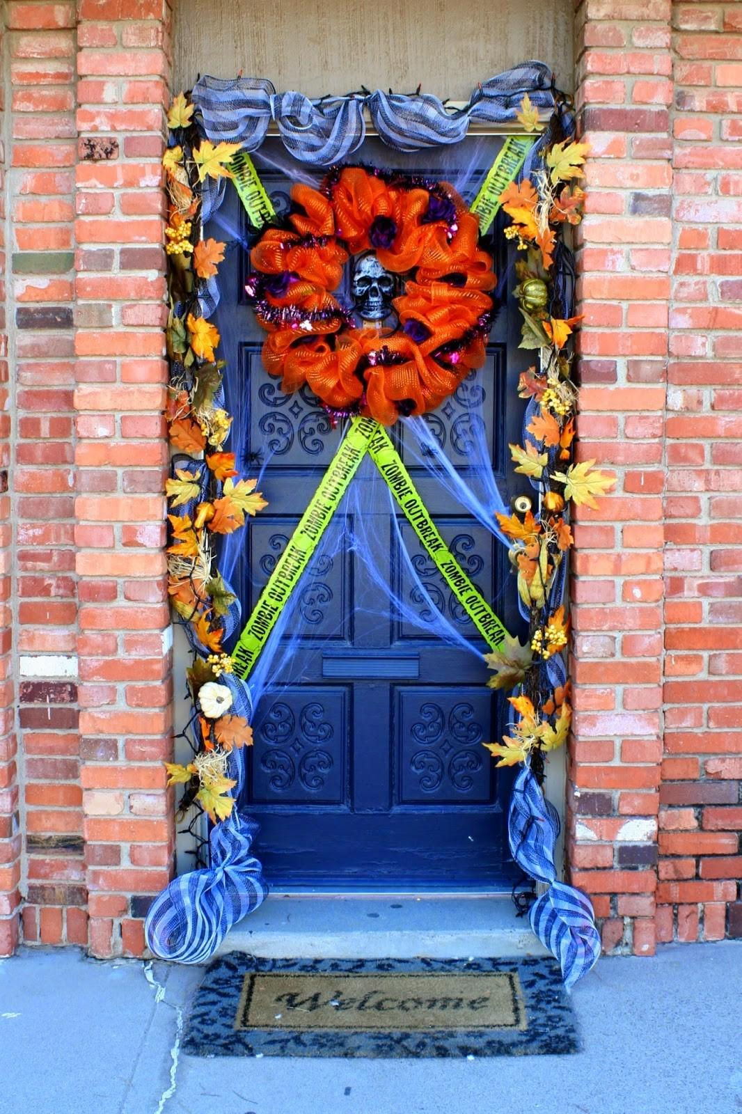 Halloween Front Door Decorating Jordan Easy Entertaining
