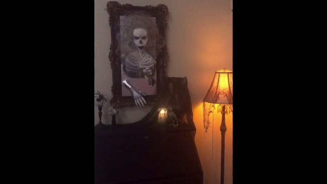 Halloween Ghost Skeleton Coming Out Mirror